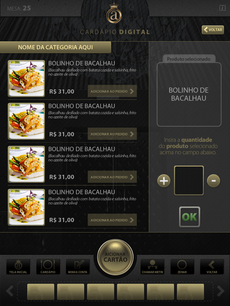 Digital Menu Club A Application