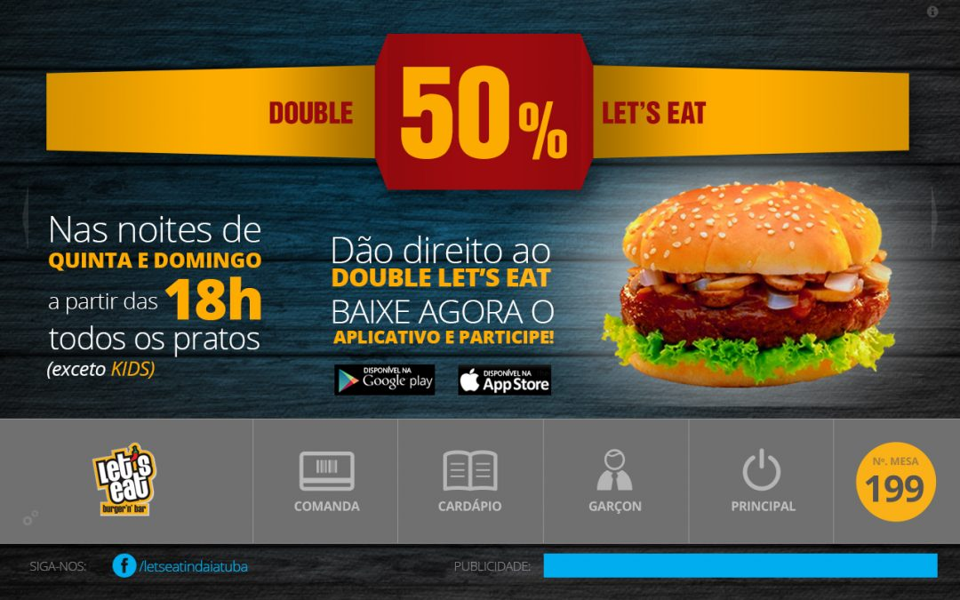 "Digital Application Menu ""Let's Eat"""