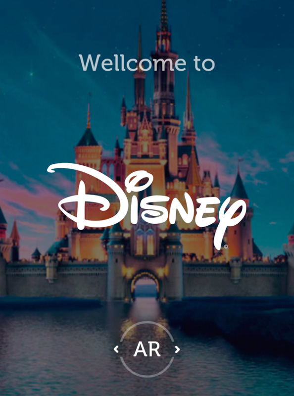 Application Augmented Reality Disney